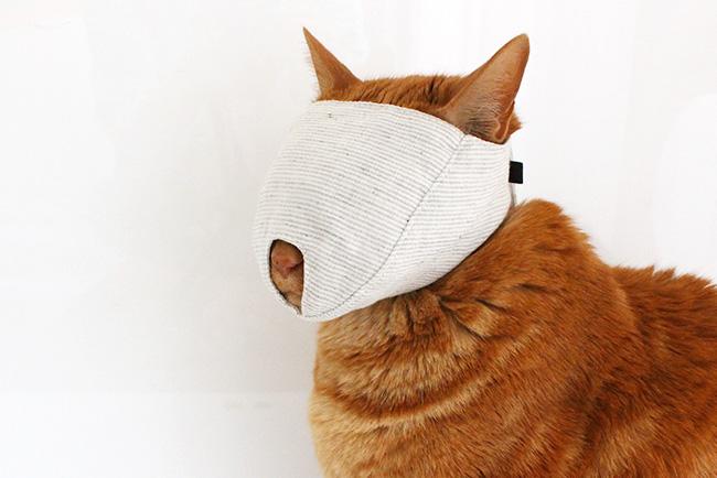 爪きりで大暴れする猫さんへ もふもふマスク
