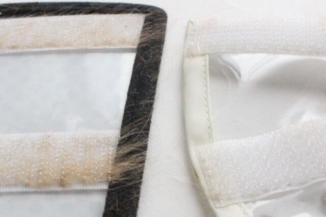 通常のマジックテープと特殊なマジックテープ毛の絡まり方の比較