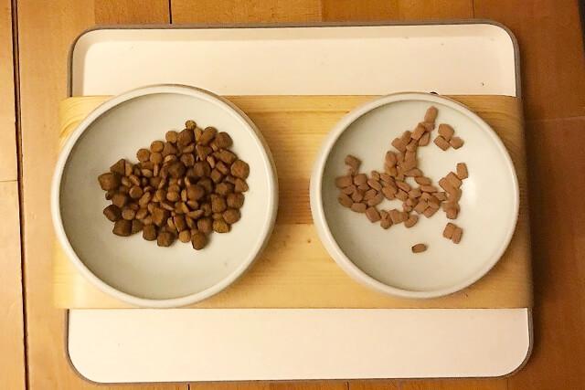 最後のヒトクチまで食べやすい食器を使うと溢れないし常に中央にご飯がある状態を保つことができる