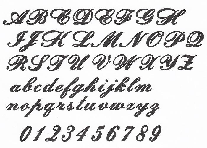 刺繍の書体