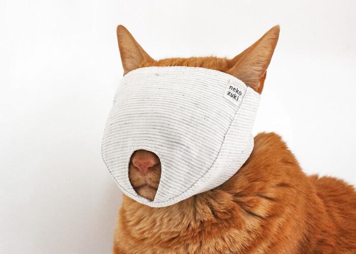 猫の爪切り補助マスク