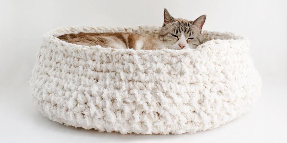 形を変更可能な猫ベッド