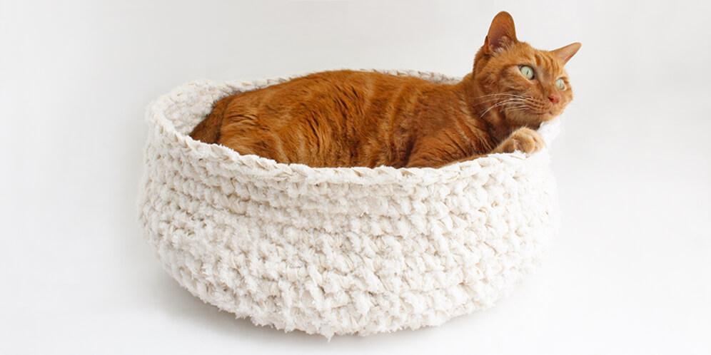 サイズ変更可能な猫ベッドお試しください