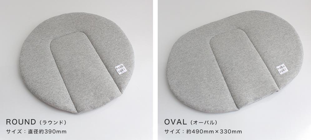円形のラウンドと楕円形オーバル