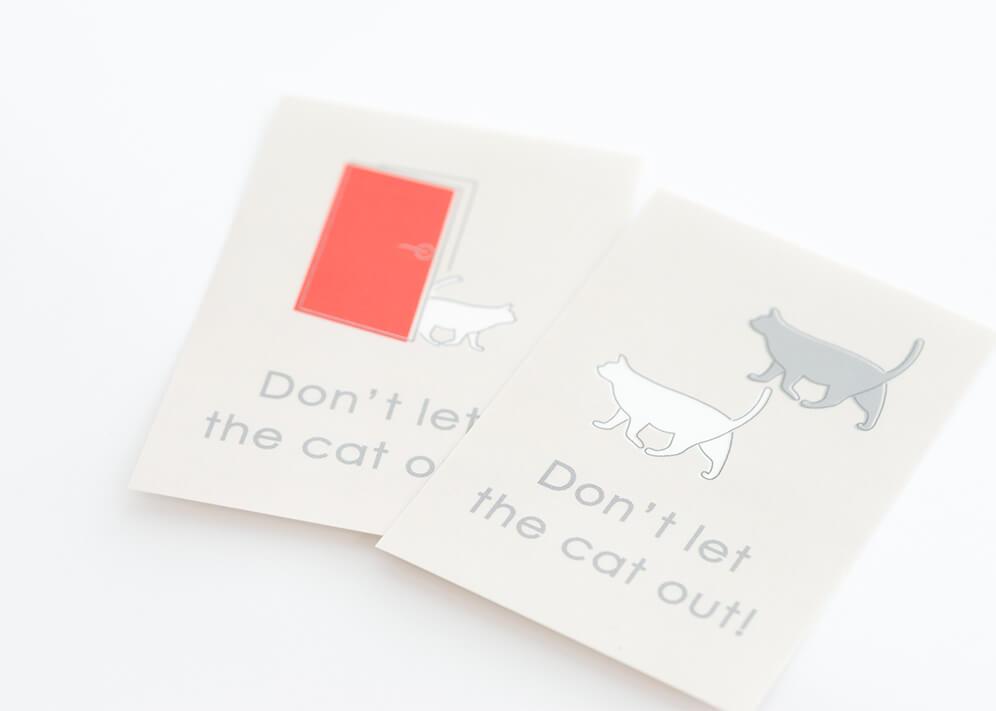 猫の飛び出し防止ステッカー『ドアネコいます』