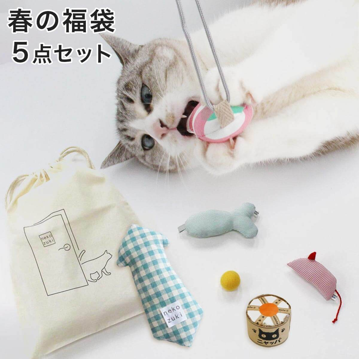 ネコさんの春おすすめグッズ:春の福袋5点セット